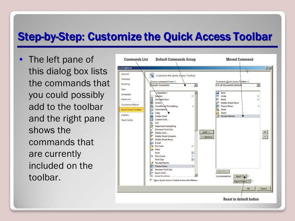 Step-by-Step: Customize the Quick Access Toolbar