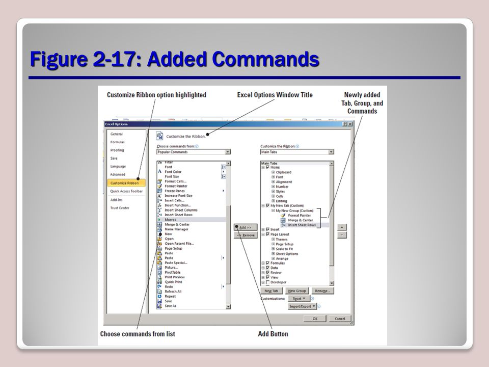 Figure 2-17: Added Commands