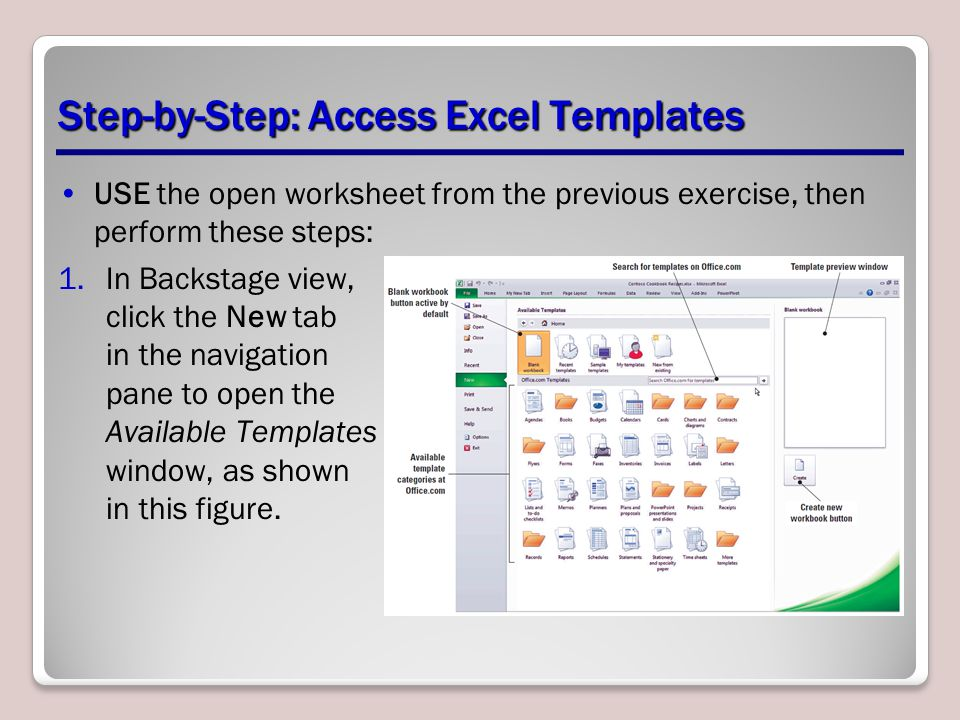 Step-by-Step: Access Excel Templates