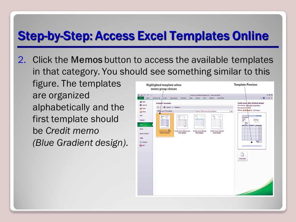 Step-by-Step: Access Excel Templates Online