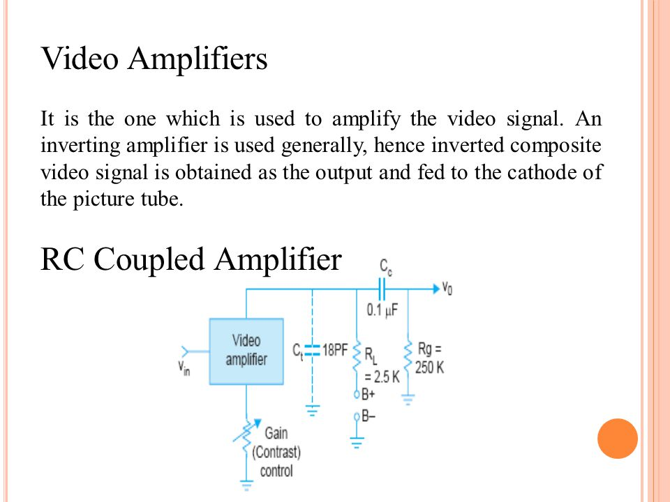 Video Amplifiers RC Coupled Amplifier