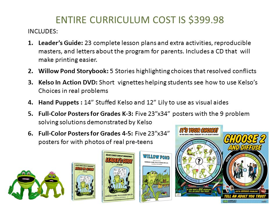 ENTIRE CURRICULUM COST IS $399.98
