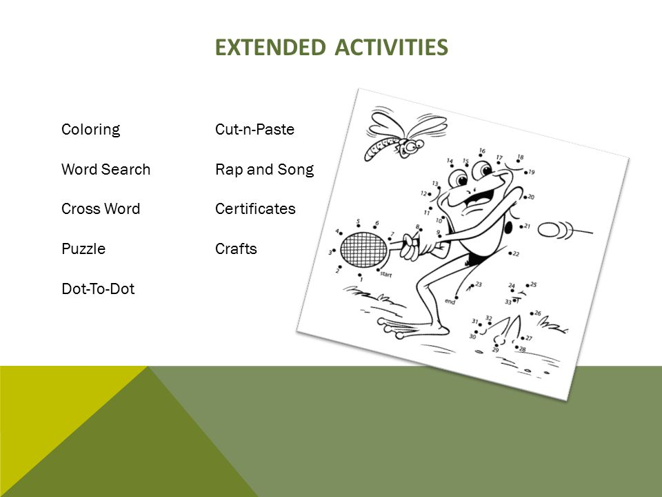 Extended Activities Coloring Cut-n-Paste Word Search Rap and Song