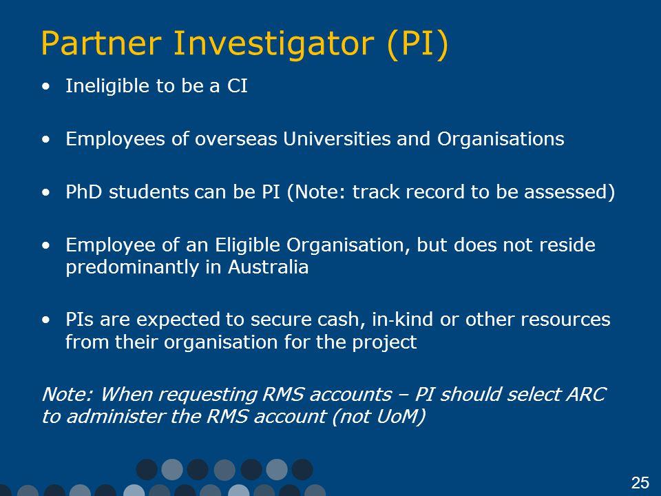 Partner Investigator (PI)