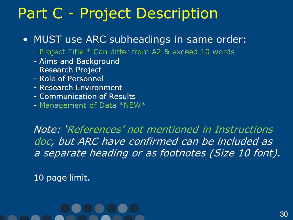Part C - Project Description