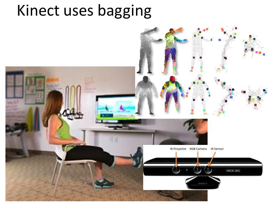 Kinect uses bagging
