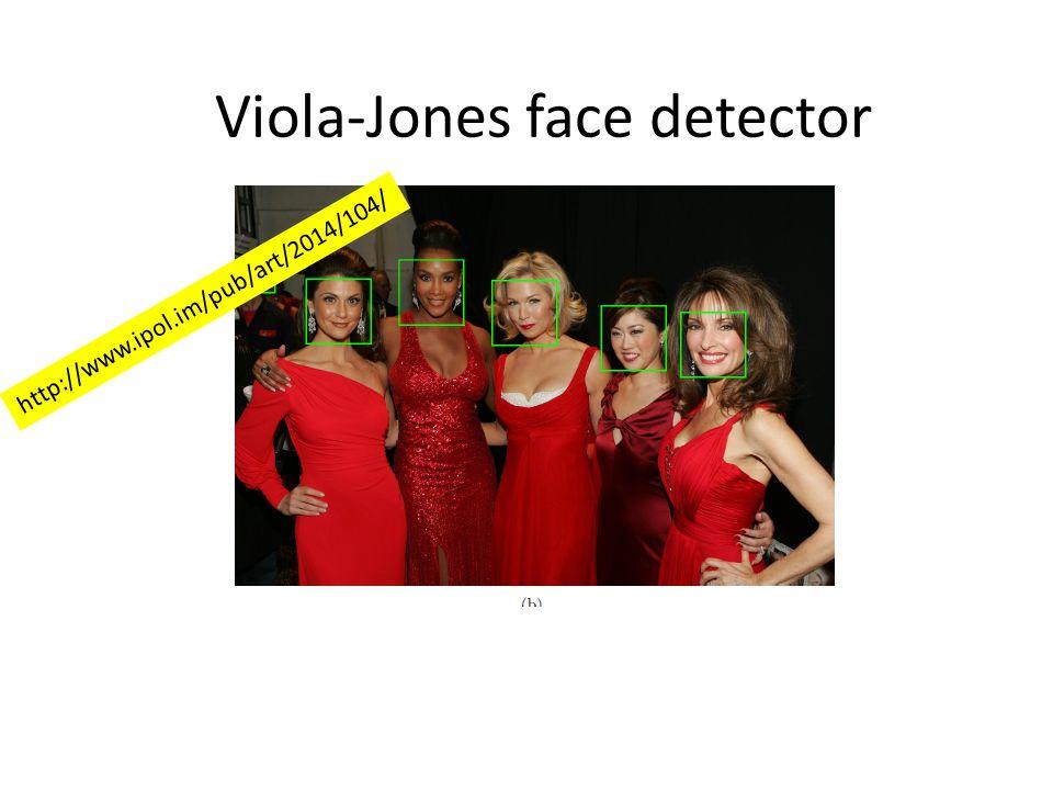 Viola-Jones face detector