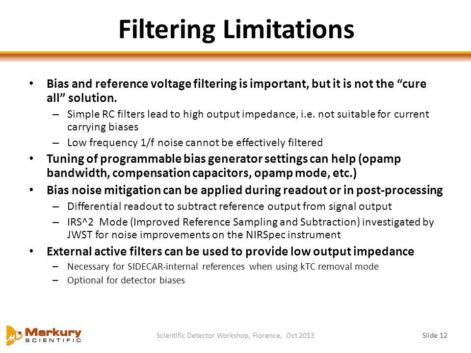 Filtering Limitations