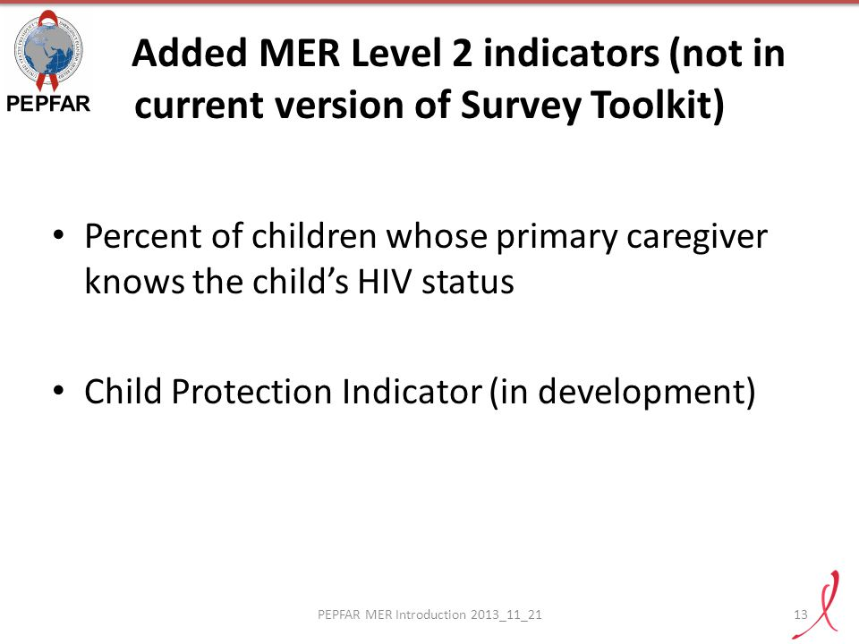 PEPFAR MER Introduction 2013_11_21