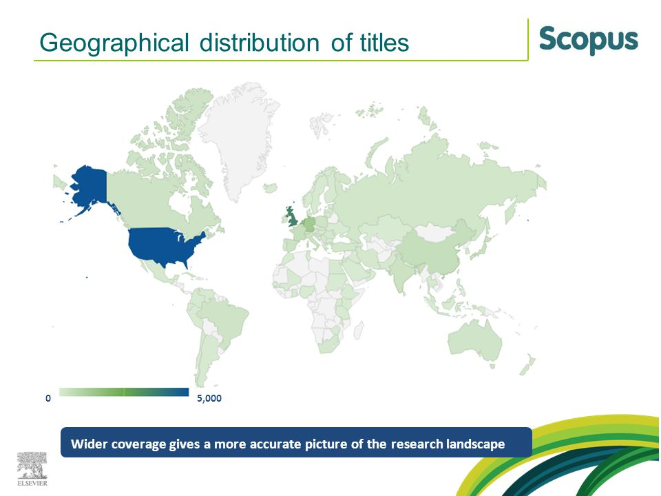 Geographical distribution of titles