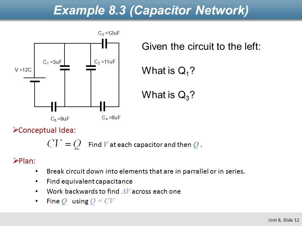 Example 8.3 (Capacitor Network)