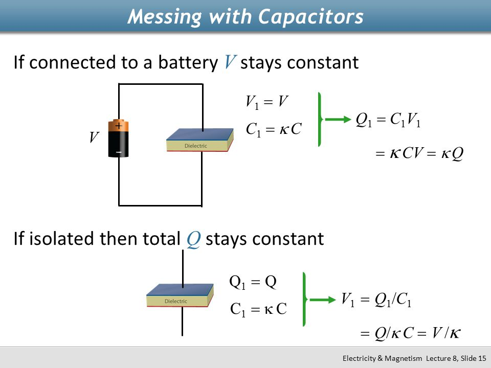 Messing with Capacitors