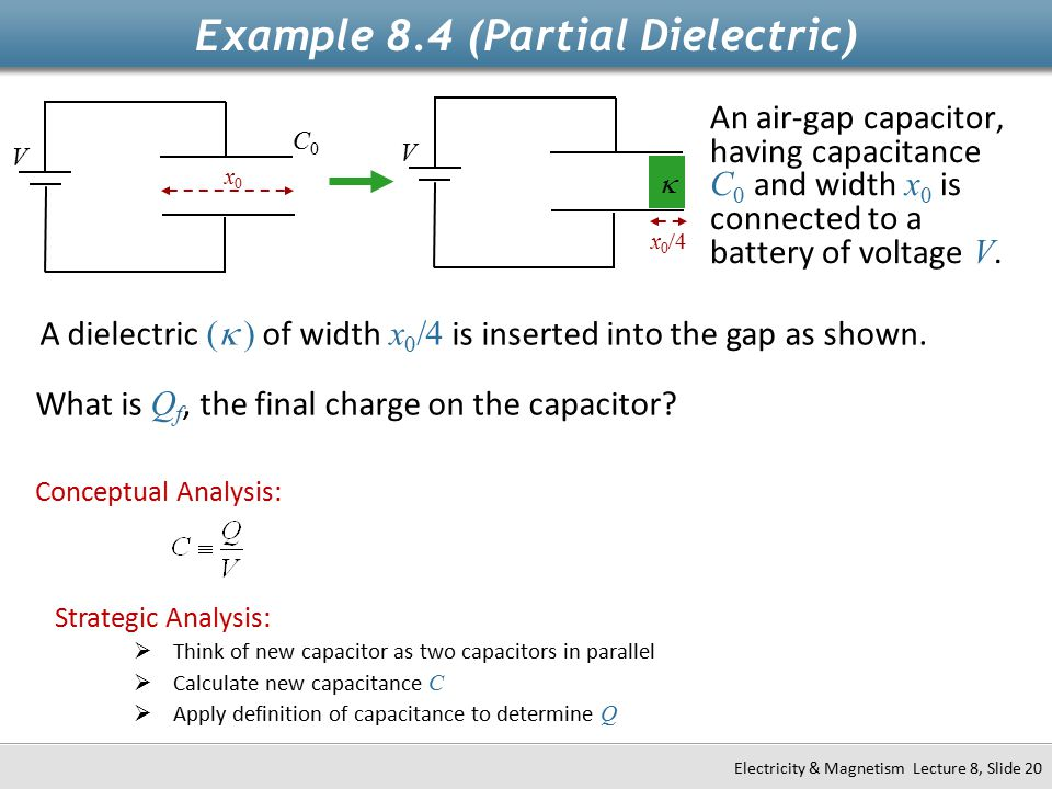 Example 8.4 (Partial Dielectric)
