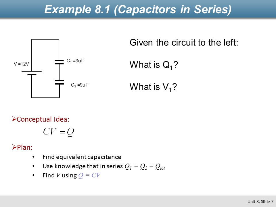 Example 8.1 (Capacitors in Series)