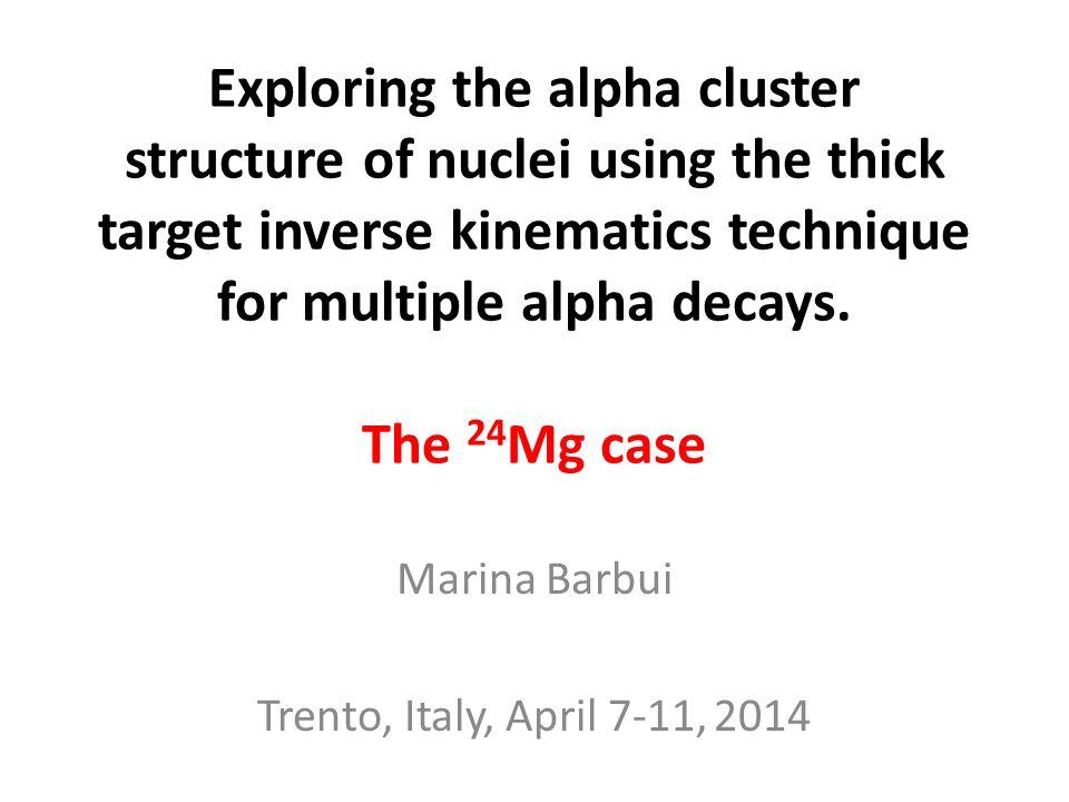 Marina Barbui Trento, Italy, April 7-11, 2014