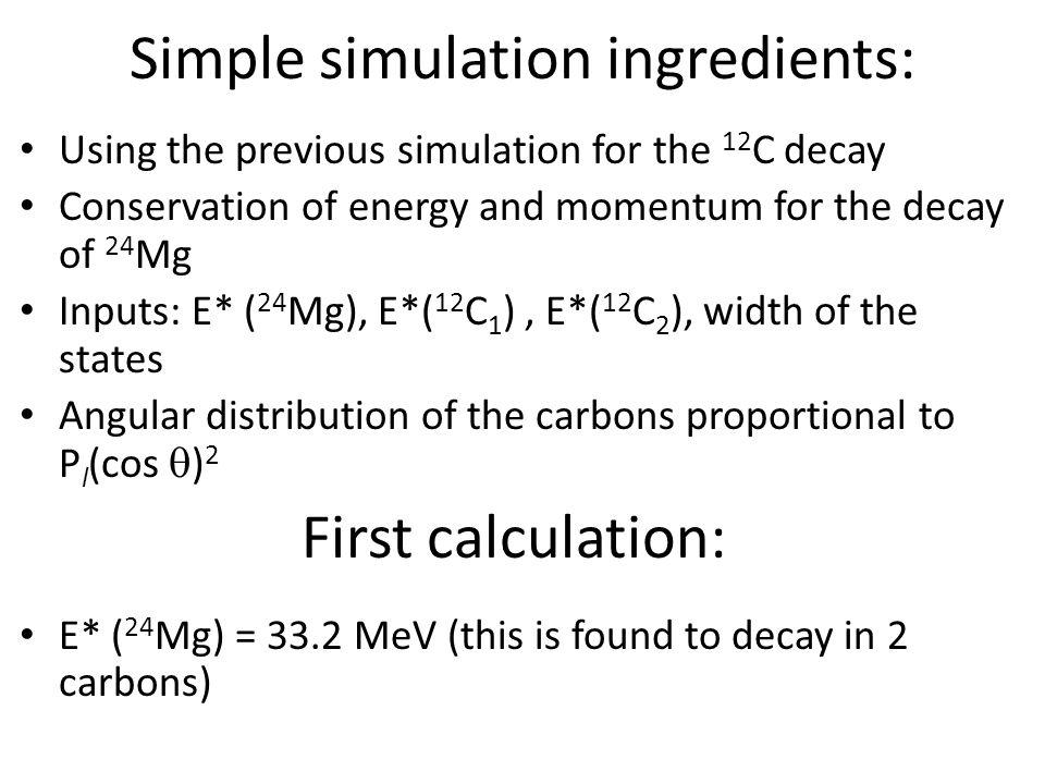 Simple simulation ingredients: