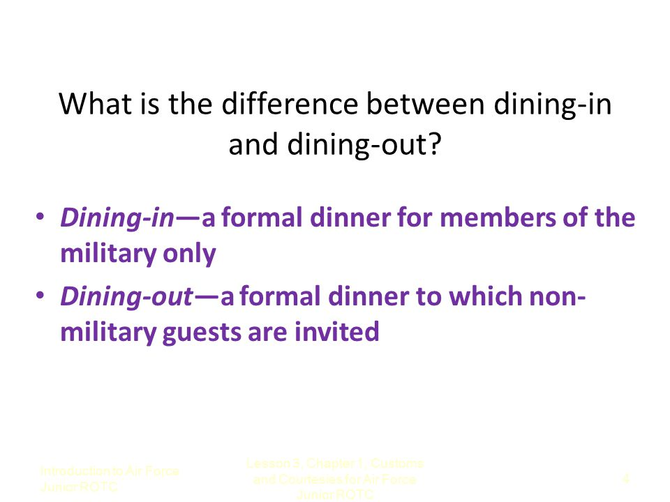 What is the difference between dining-in and dining-out