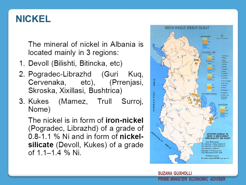 NICKEL Devoll (Bilishti, Bitincka, etc)