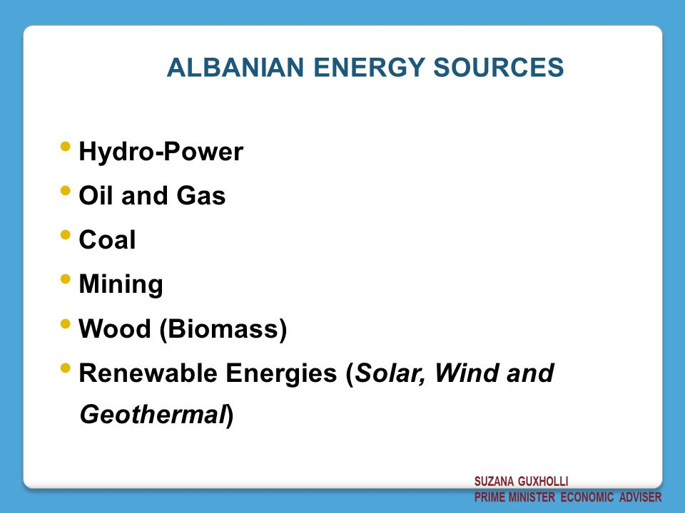 ALBANIAN ENERGY SOURCES