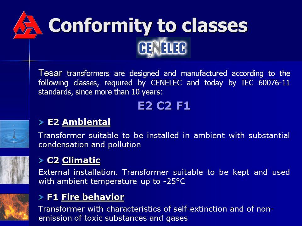 Conformity to classes E2 C2 F1