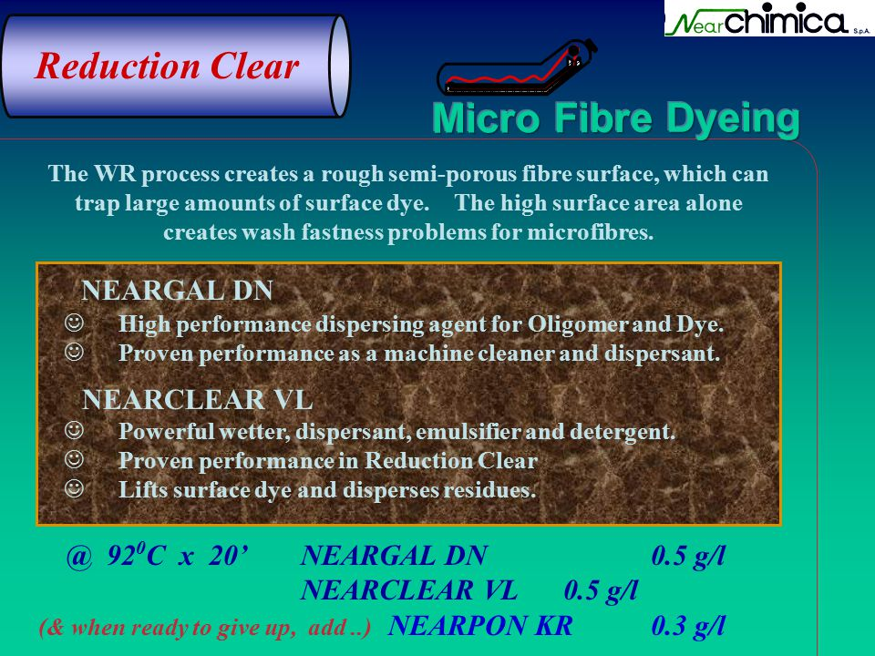 Reduction Clear NEARGAL DN @ 920C x 20' NEARGAL DN 0.5 g/l