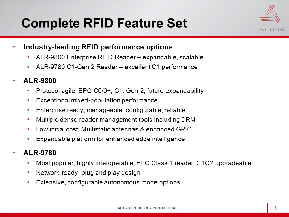 Complete RFID Feature Set