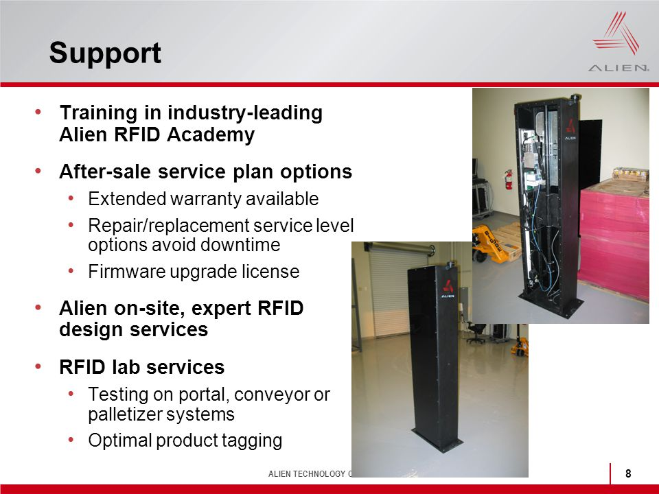 Support Training in industry-leading Alien RFID Academy