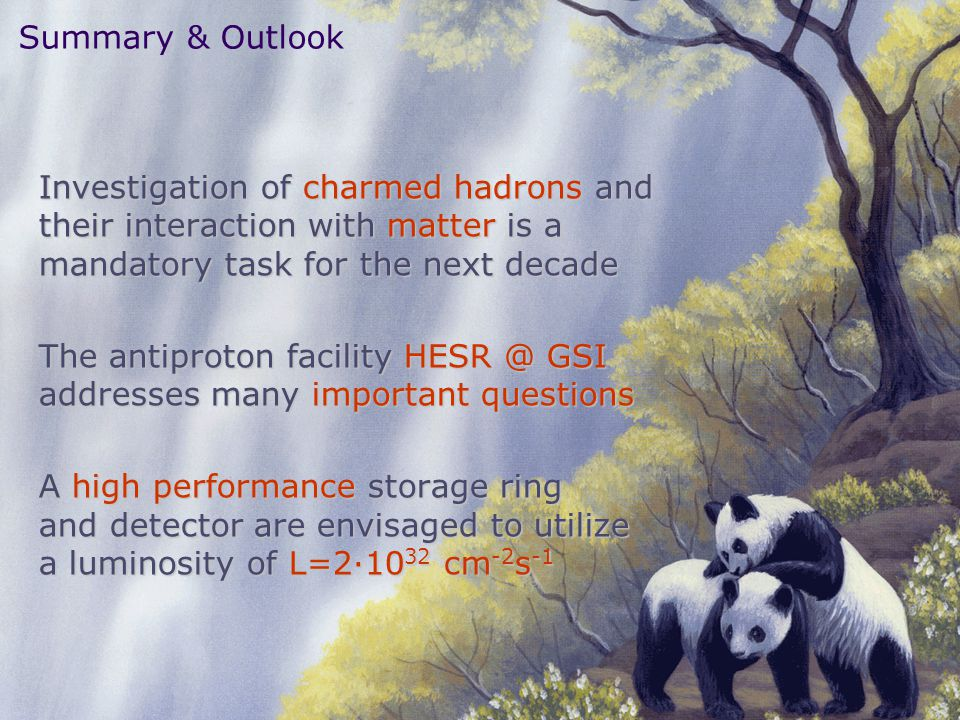 The antiproton facility HESR @ GSI addresses many important questions