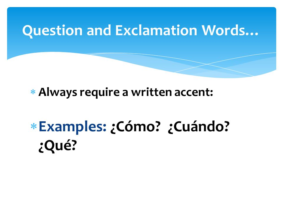 Question and Exclamation Words…