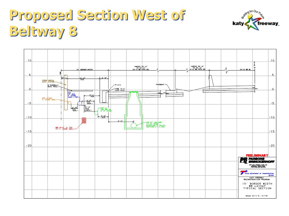 Proposed Section West of Beltway 8