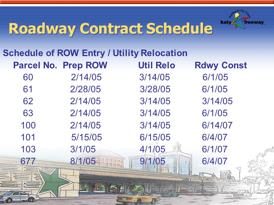 Roadway Contract Schedule
