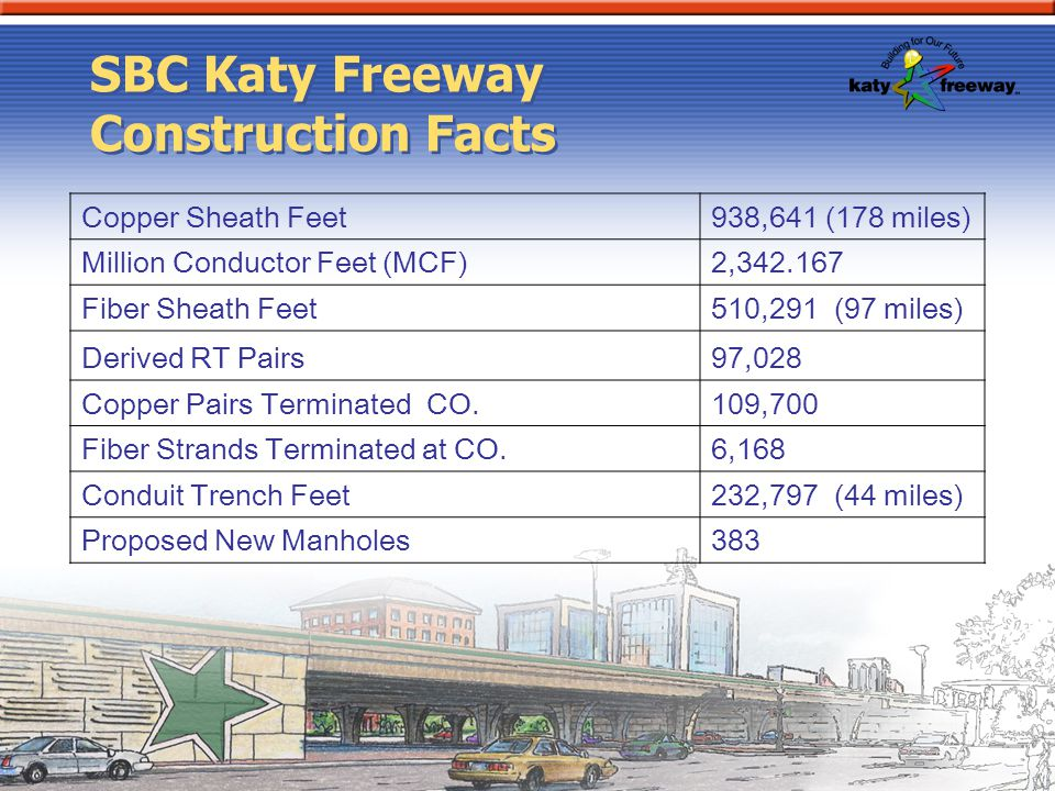 SBC Katy Freeway Construction Facts