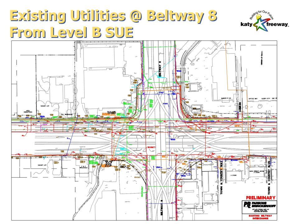 Existing Utilities @ Beltway 8 From Level B SUE