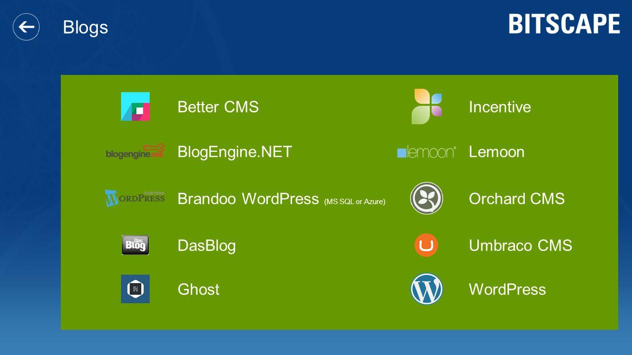 Blogs Better CMS Incentive BlogEngine.NET Lemoon