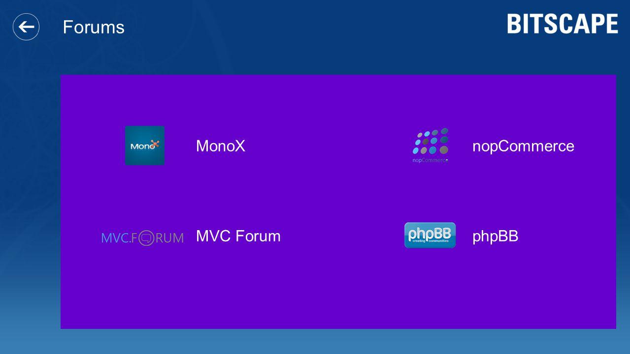 Forums MonoX nopCommerce MVC Forum phpBB