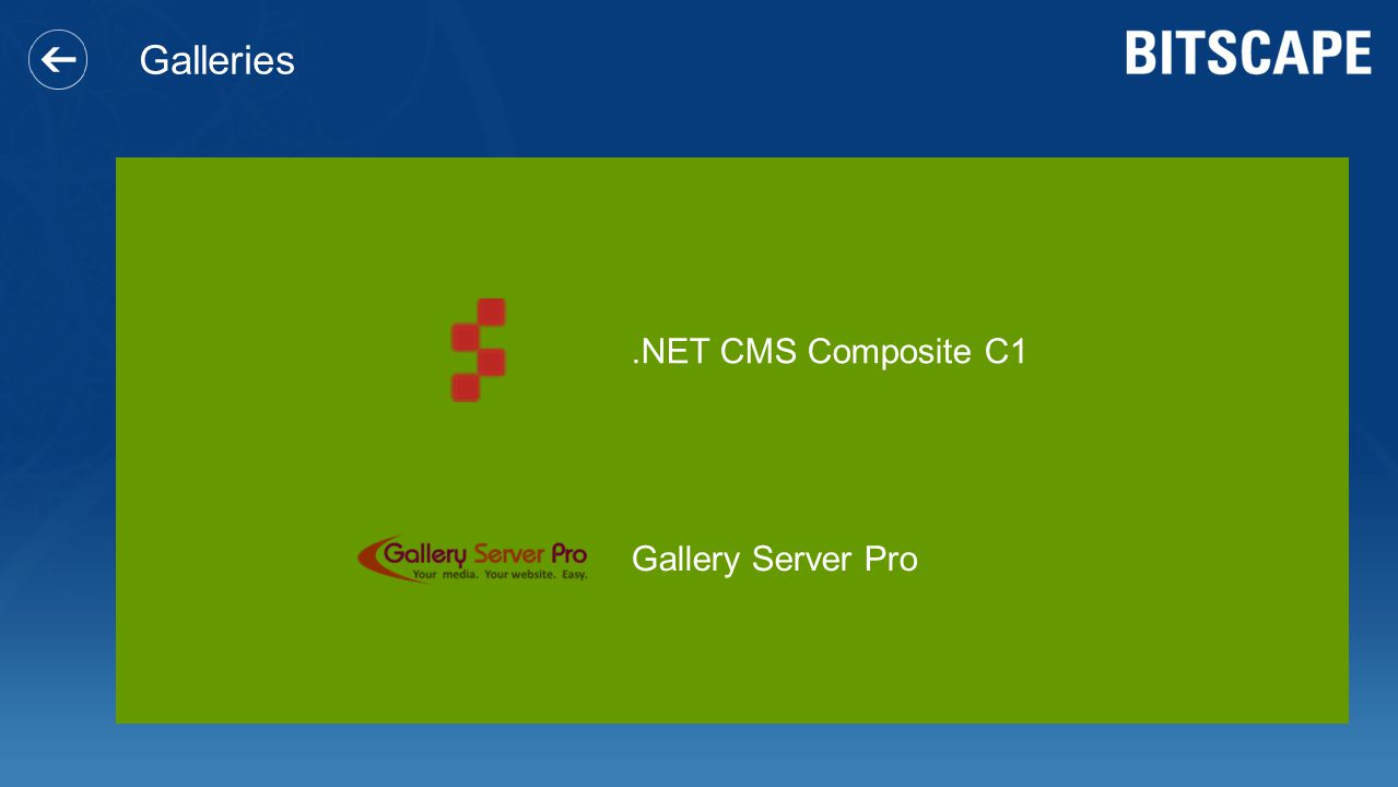 Galleries .NET CMS Composite C1 Gallery Server Pro