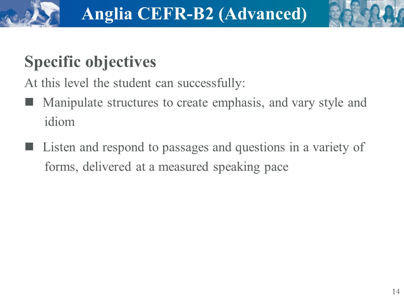Anglia CEFR-B2 (Advanced)