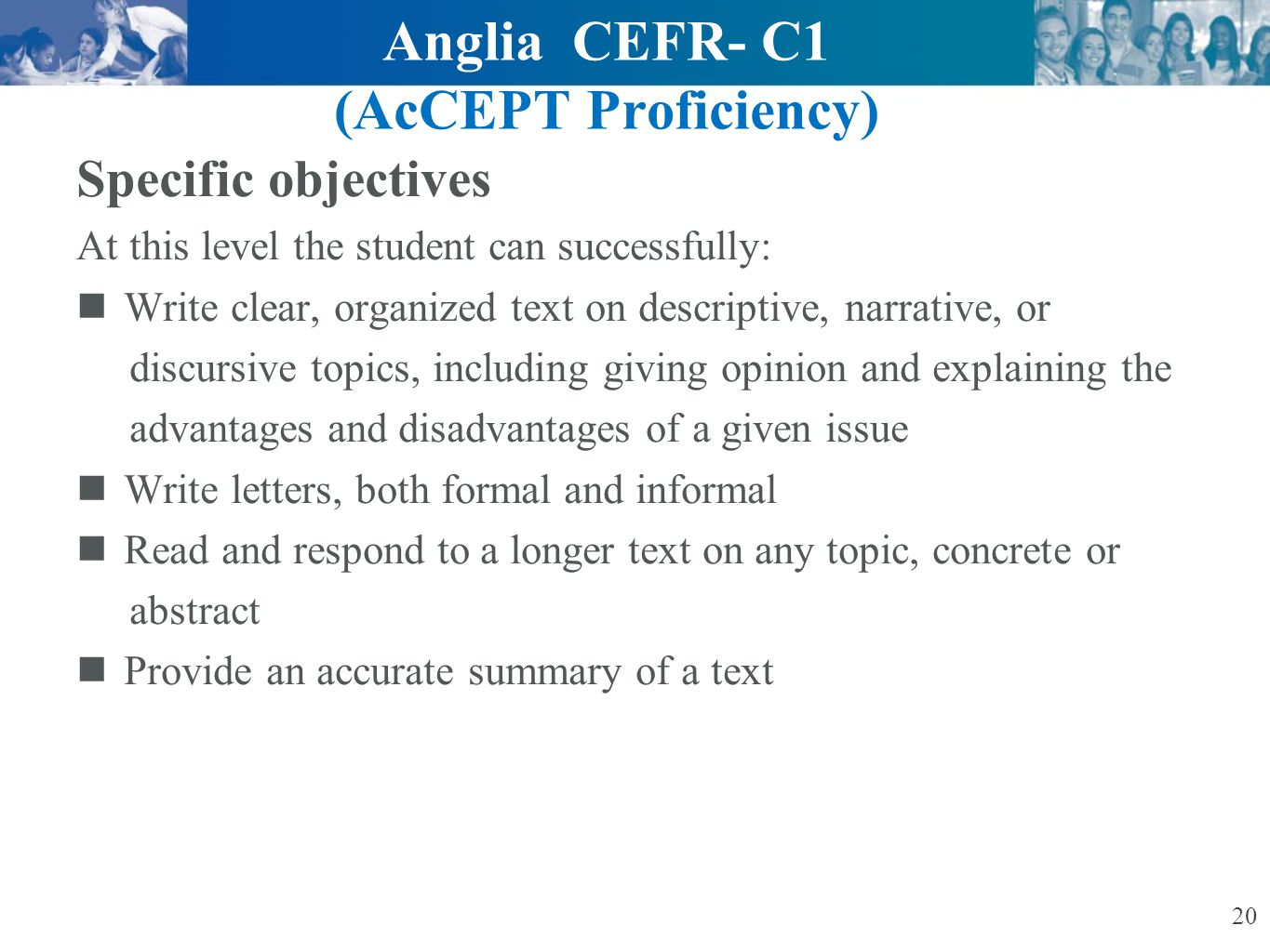 Anglia CEFR- C1 (AcCEPT Proficiency)