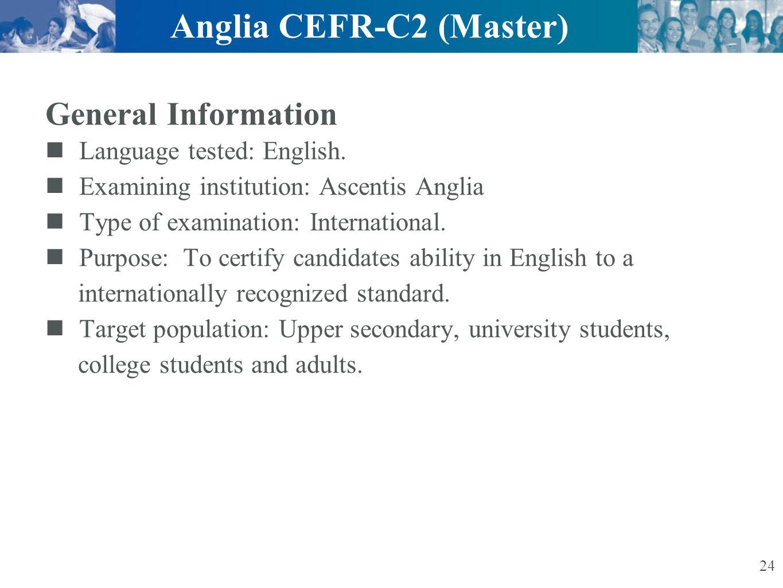 Anglia CEFR-C2 (Master)