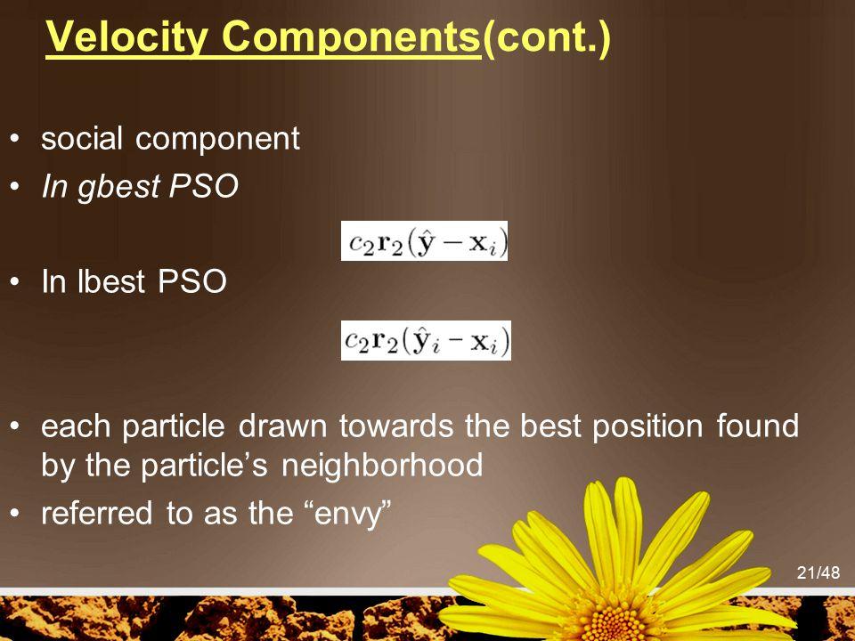 Velocity Components(cont.)
