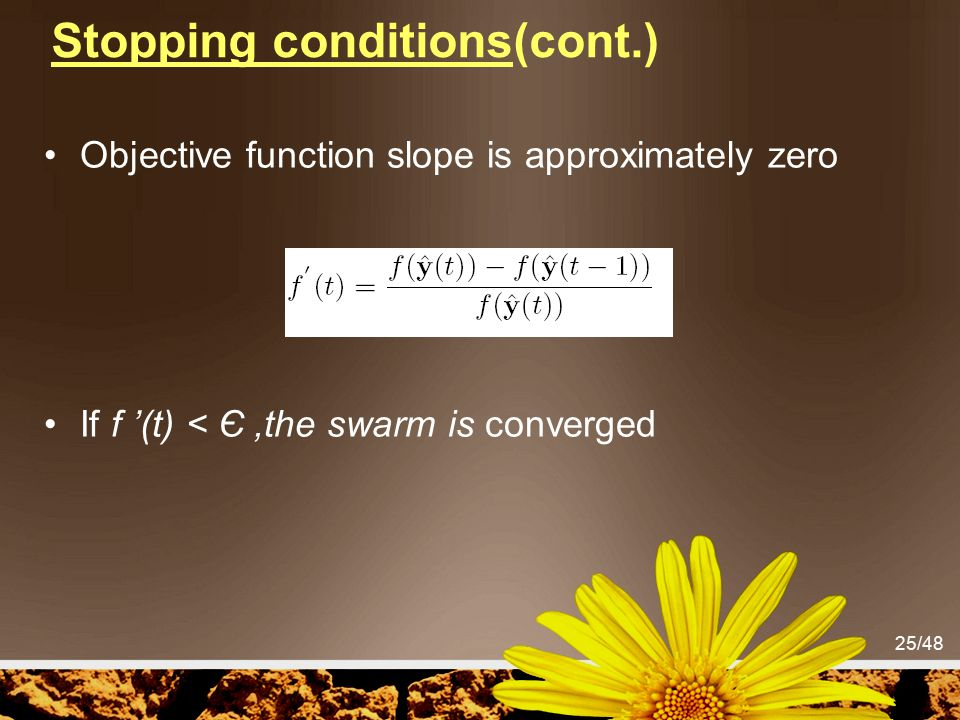 Stopping conditions(cont.)