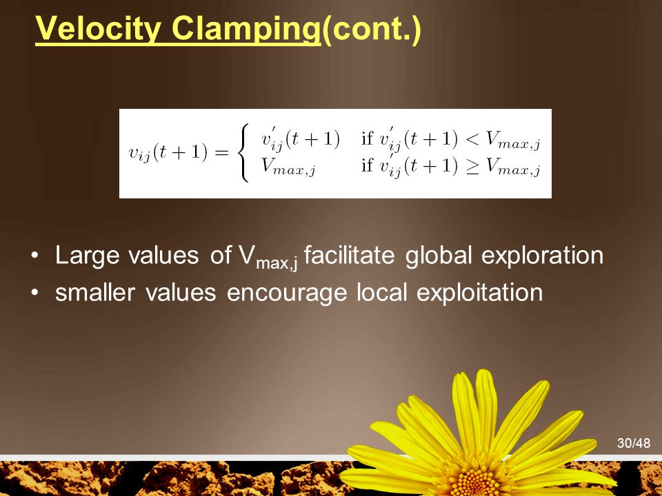 Velocity Clamping(cont.)