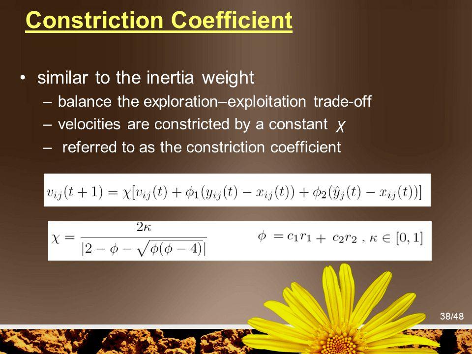 Constriction Coefficient