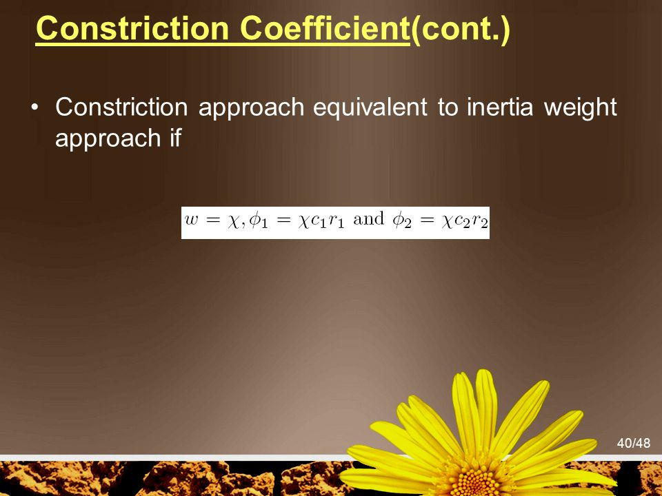 Constriction Coefficient(cont.)