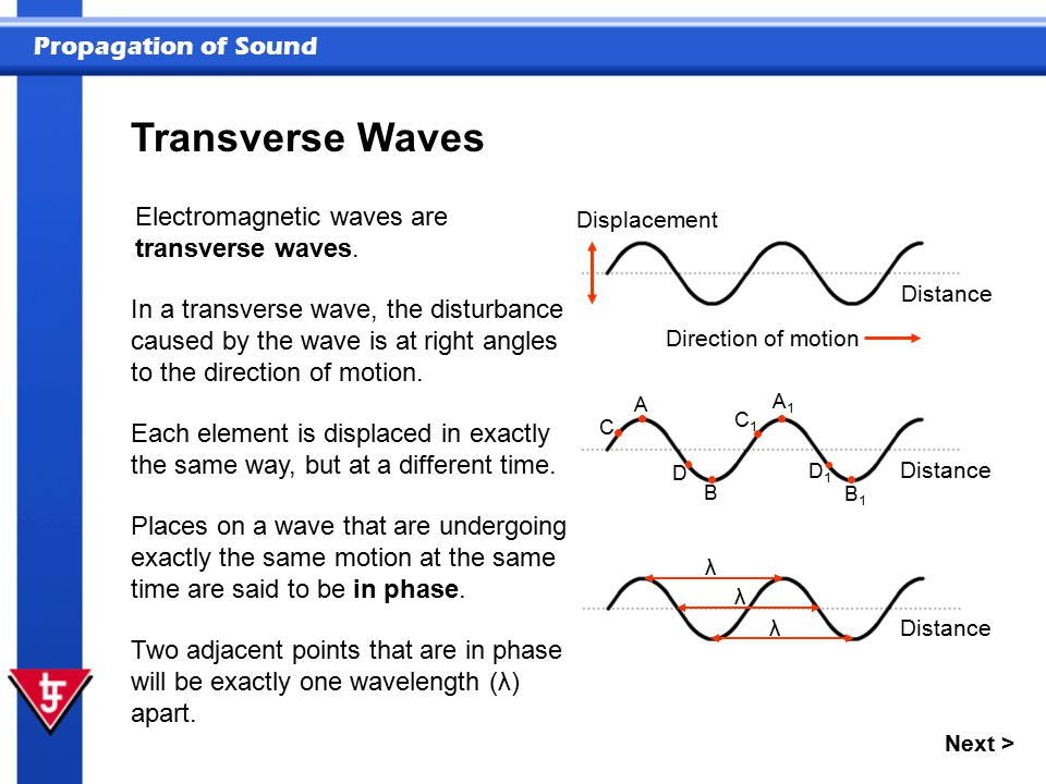Transverse Waves Electromagnetic waves are transverse waves.