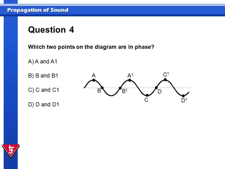 Question 4 Which two points on the diagram are in phase A) A and A1 A
