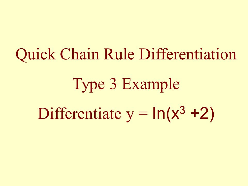 Quick Chain Rule Differentiation Type 3 Example