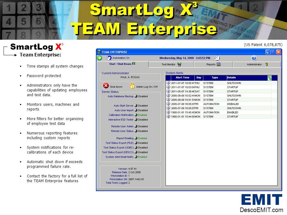 SmartLog X3 TEAM Enterprise SmartLog X3 DescoEMIT.com Team Enterprise: