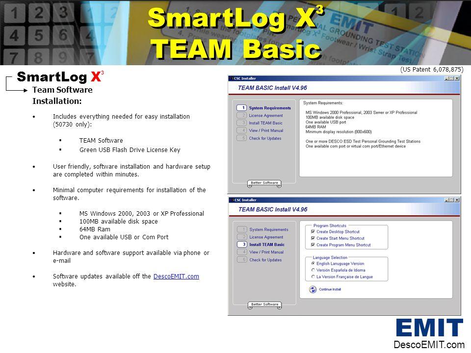 SmartLog X3 TEAM Basic SmartLog X3 DescoEMIT.com Team Software