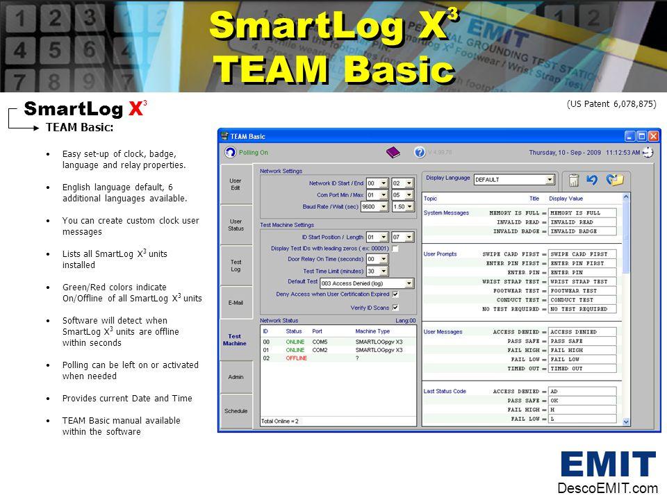 SmartLog X3 TEAM Basic SmartLog X3 DescoEMIT.com TEAM Basic: